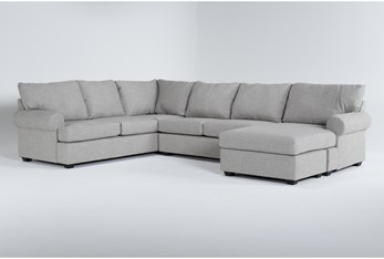 Hampstead Dove 2 Piece Sectional With Right Arm Facing Chaise