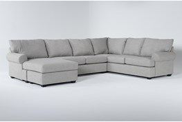 """Hampstead Dove 140"""" 2 Piece Sectional With Left Arm Facing Chaise"""