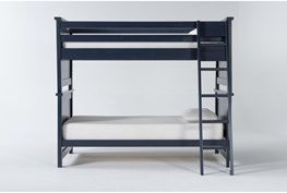 Mateo Blue Twin Over Twin Bunk Bed