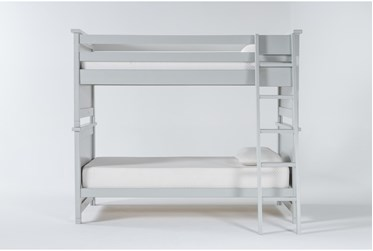 Mateo Grey Twin Over Twin Bunk Bed