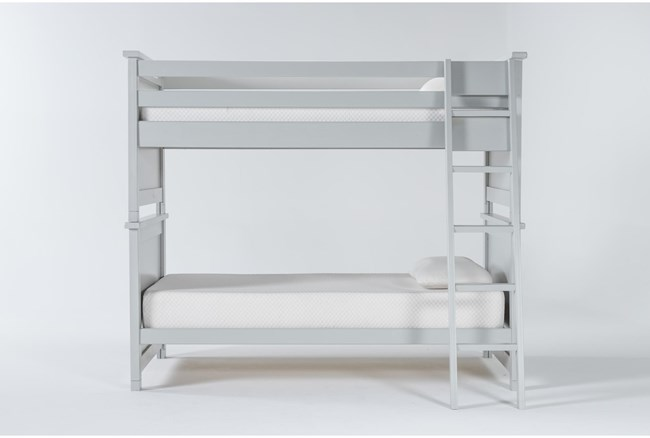 Mateo Grey Twin Over Twin Bunk Bed - 360