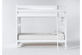 Mateo White Twin Over Twin Bunk Bed