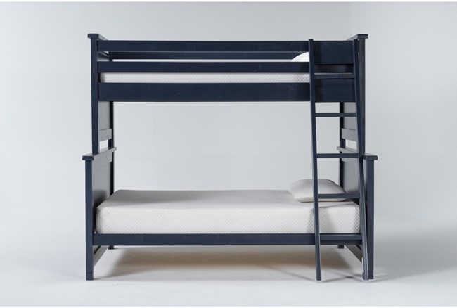Mateo Blue Twin Over Full Bunk Bed - 360
