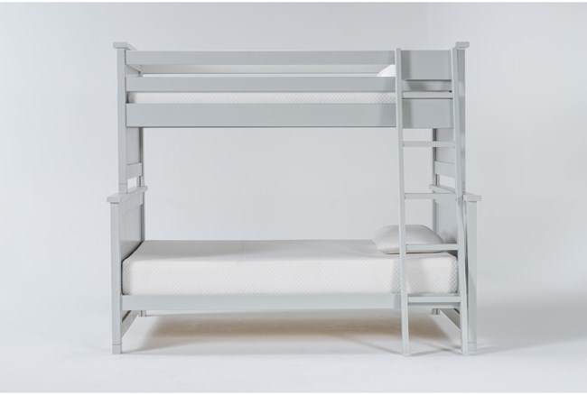 Mateo Grey Twin Over Full Bunk Bed - 360