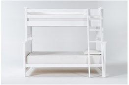 Mateo White Twin Over Full Bunk Bed