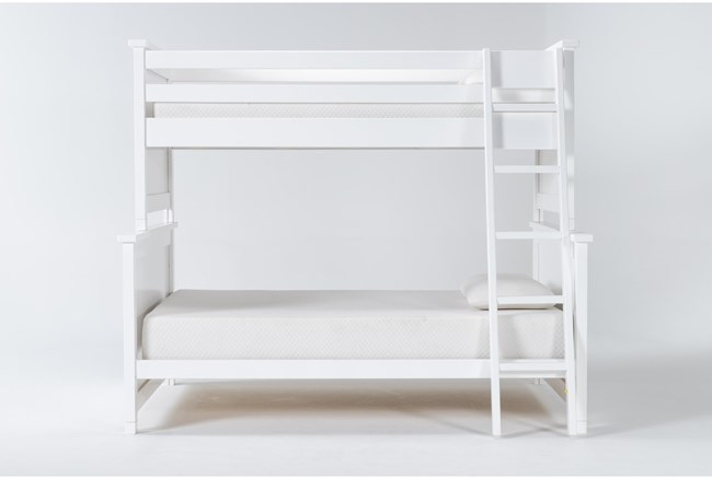 Mateo White Twin Over Full Bunk Bed - 360