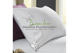 Premium Bamboo White Standard Pillowcase Set
