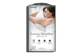 Luxury Microfiber Dove Gray Queen Pillowcase Set