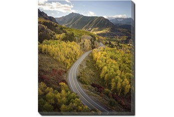 20X24 The Road Less Traveled With Gallery Wrap Canvas