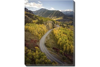 30X40 The Road Less Traveled With Gallery Wrap Canvas