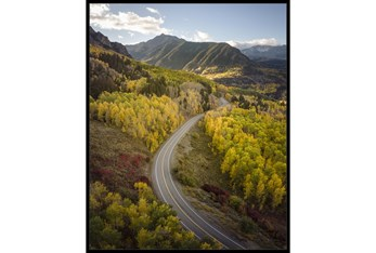 42X52 The Road Less Traveled With Black Frame
