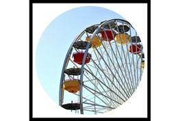 26X26 Ferris Wheel With Black Frame