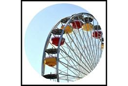 47X47 Ferris Wheel With Black Frame