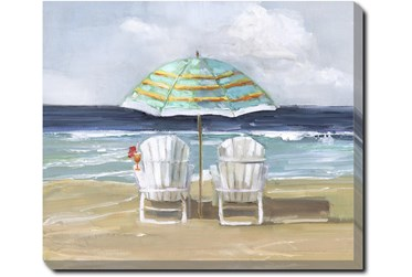 24X20 Beach Chairs With Gallery Wrap Canvas