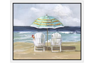 26X22 Beach Chairs With White Frame