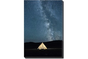 20X24 Remote Accommodations Under Night Sky With Gallery Wrap Canvas