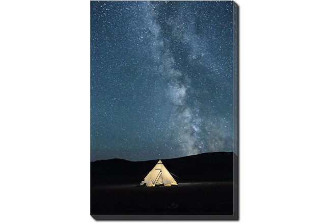 20X24 Remote Accommodations Under Night Sky With Gallery Wrap Canvas - 360