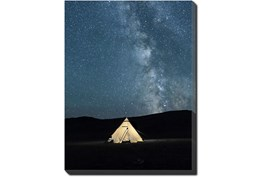 30X40 Remote Accommodations Under Night Sky With Gallery Wrap Canvas