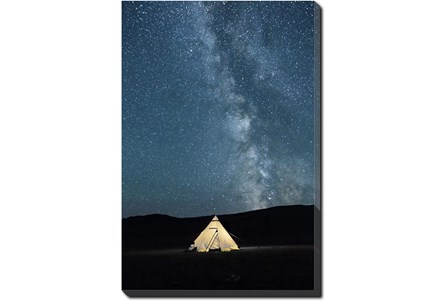 40X50 Remote Accommodations Under Night Sky With Gallery Wrap Canvas - Main