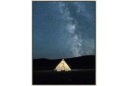 32X42 Remote Accommodations Under Night Sky With Birch Frame