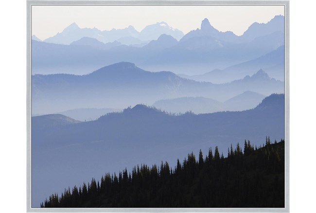 52X42 Blue Ridge With Silver Frame  - 360