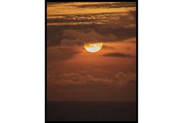 32X42 Sky Sunset With Black Frame