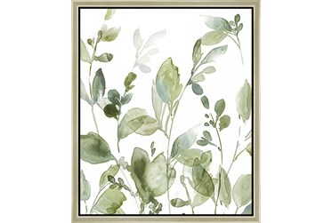 22X26 Botanical Watercolor With Champagne Frame