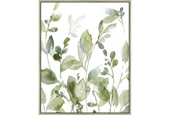 42X52 Botanical Watercolor With Champagne Frame