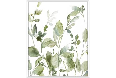 42X52 Botanical Watercolor With White Frame