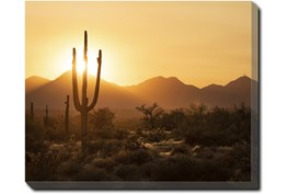 50X40 Desert Sunset With Gallery Wrap Canvas