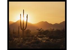 26X22 Desert Sunset With Black Frame