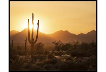 52X42 Desert Sunset With Black Frame
