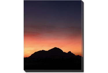 30X40 Mountain Sunset With Gallery Wrap Canvas