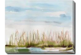 40X30 Dunes Watercolor With Gallery Wrap Canvas