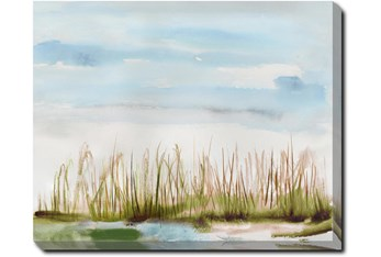 50X40 Dunes Watercolor With Gallery Wrap Canvas