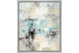 22X26 Abstract Bright Day Coming With Silver Frame