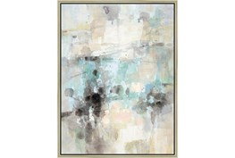 32X42 Abstract Bright Day Coming With Champagne Frame