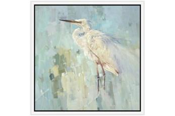 26X26 White Heron With White Frame