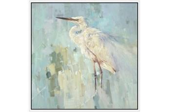 47X47 White Heron With White Frame