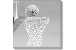 45X45 He Shoots - He Scores 1 With Gallery Wrap Canvas