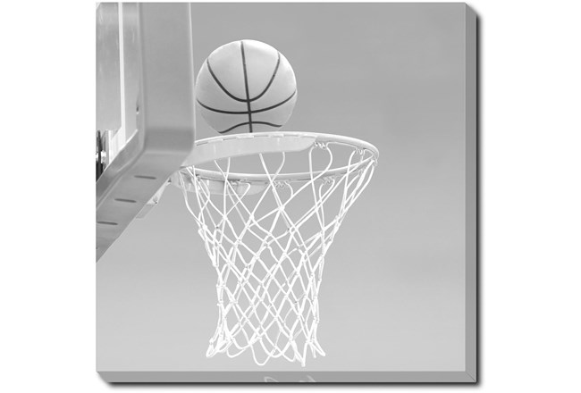 45X45 He Shoots - He Scores 1 With Gallery Wrap Canvas - 360