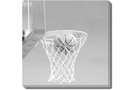 45X45 He Shoots - He Scores 2 With Gallery Wrap Canvas