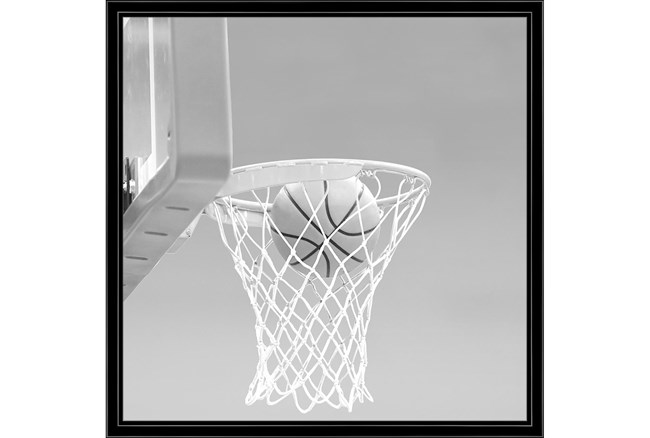 26X26 He Shoots - He Scores 2 With Black Frame - 360