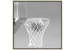 26X26 He Shoots - He Scores 2 With Birch Frame