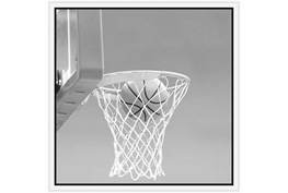 26X26 He Shoots - He Scores 2 With White Frame