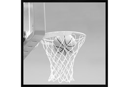 38X38 He Shoots - He Scores 2 With Black Frame