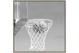 38X38 He Shoots - He Scores 2 With Birch Frame