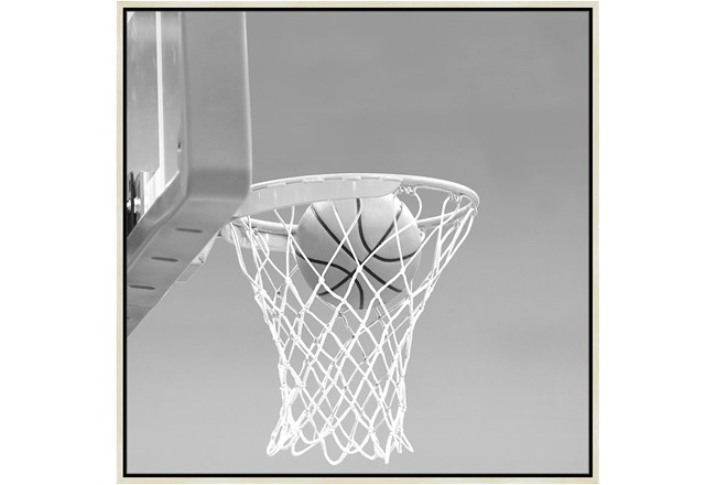 38X38 He Shoots - He Scores 2 With Birch Frame  - 360