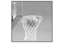 38X38 He Shoots - He Scores 2 With White Frame
