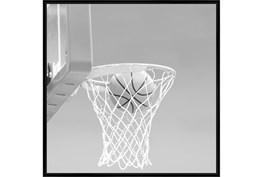 47X47 He Shoots - He Scores 2 With Black Frame